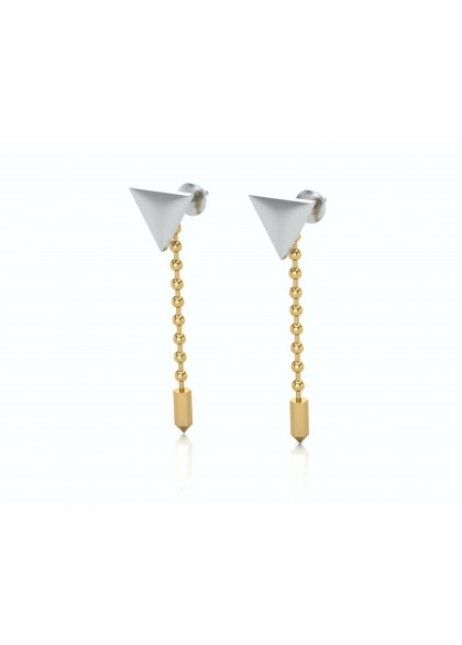 TRIGON GOLD EARRINGS