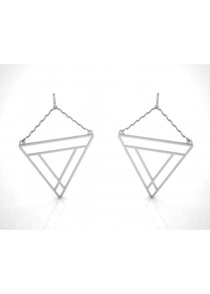 REVERSE TRIGON GOLD EARRINGS