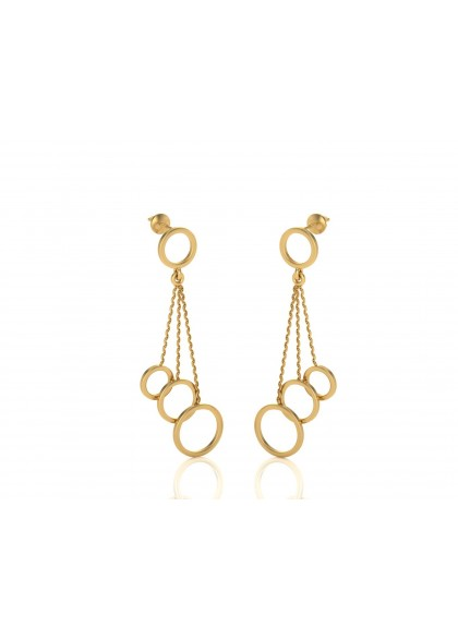 JUGGLERS GOLD EARRINGS